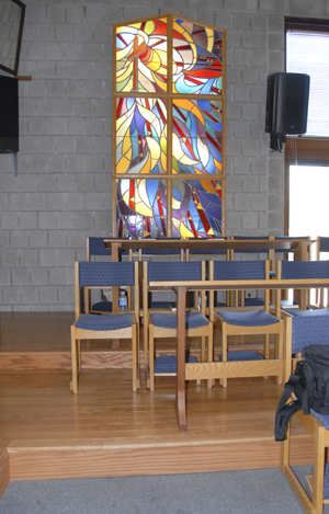 Choir Risers at St. Martin's Anglican Church Pickering Ontario Installed by CMI Sales and Service and Netcom Solutions