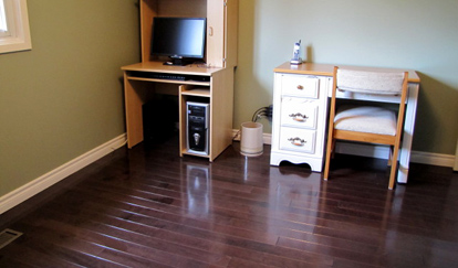 Hardwood flooring installed in Scarborough ON by CMI Sales and Service and Netcom Solutions Photo Linda Taylor
